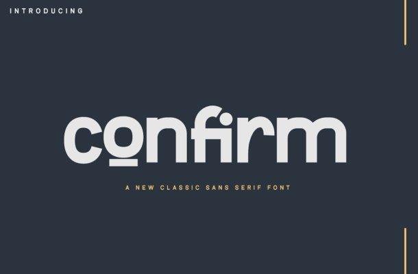 Confirm Font