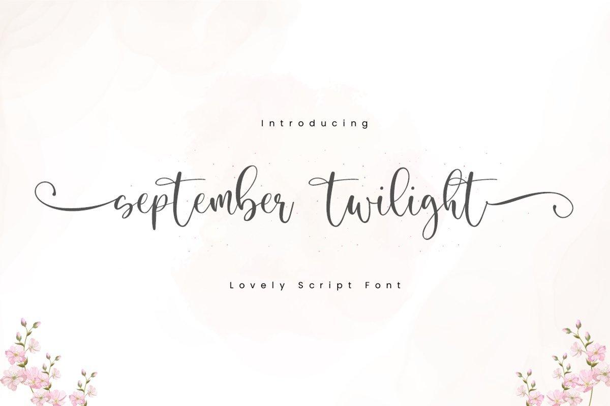 September-Twilight-Font