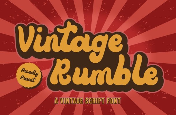 Vintage-Rumble-Font
