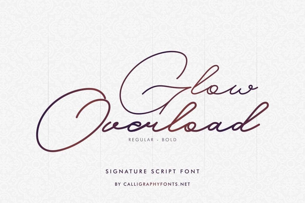 Glow-Overload-Font
