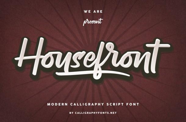 Housefront-Font