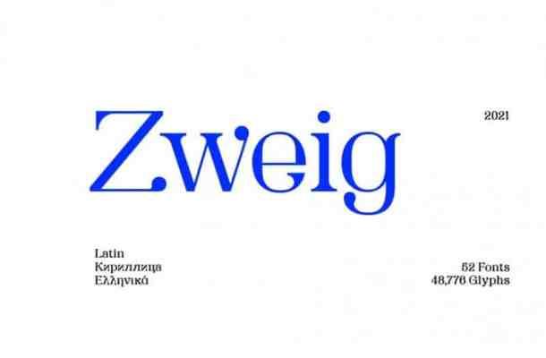 SK Zweig Font