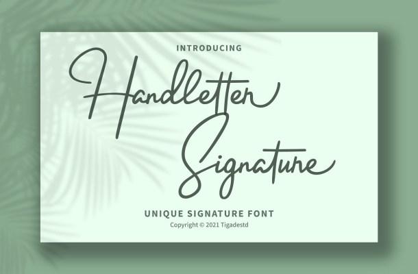 Handletter-Font