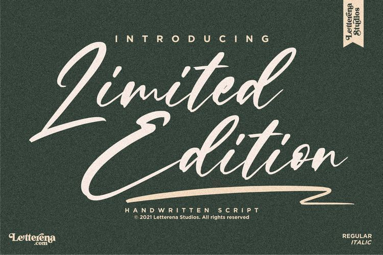 Limited-Edition-Font