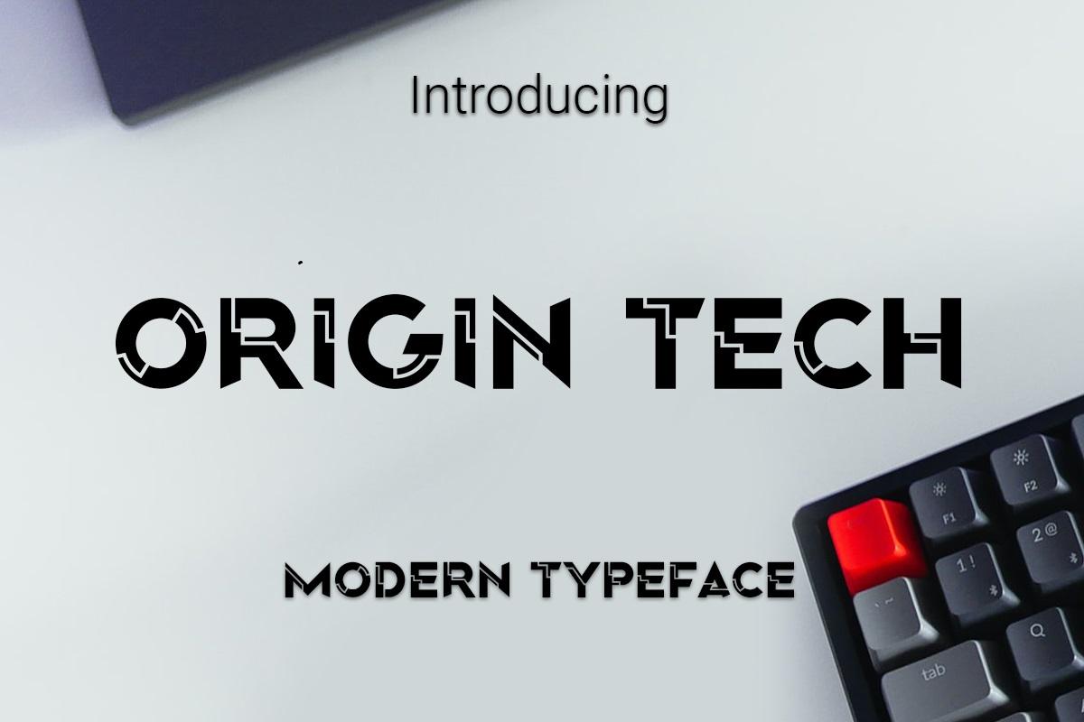 Origin-Tech-Font