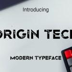 Origin Tech Font