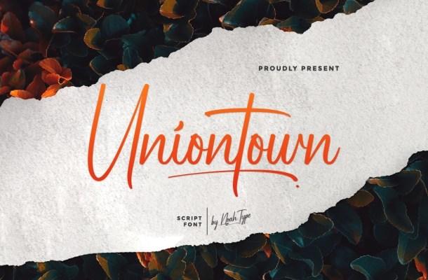 Uniontown Font