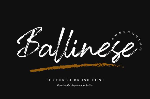 Ballinese-Font