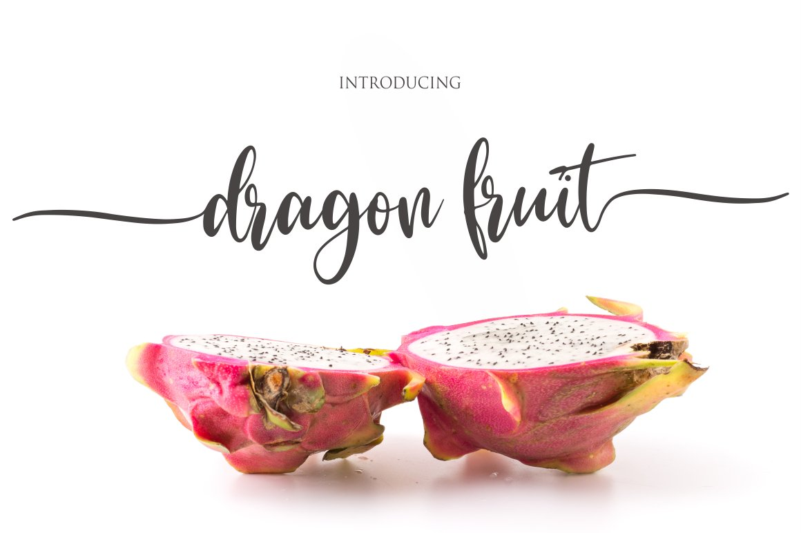 Dragon-Fruit-Font