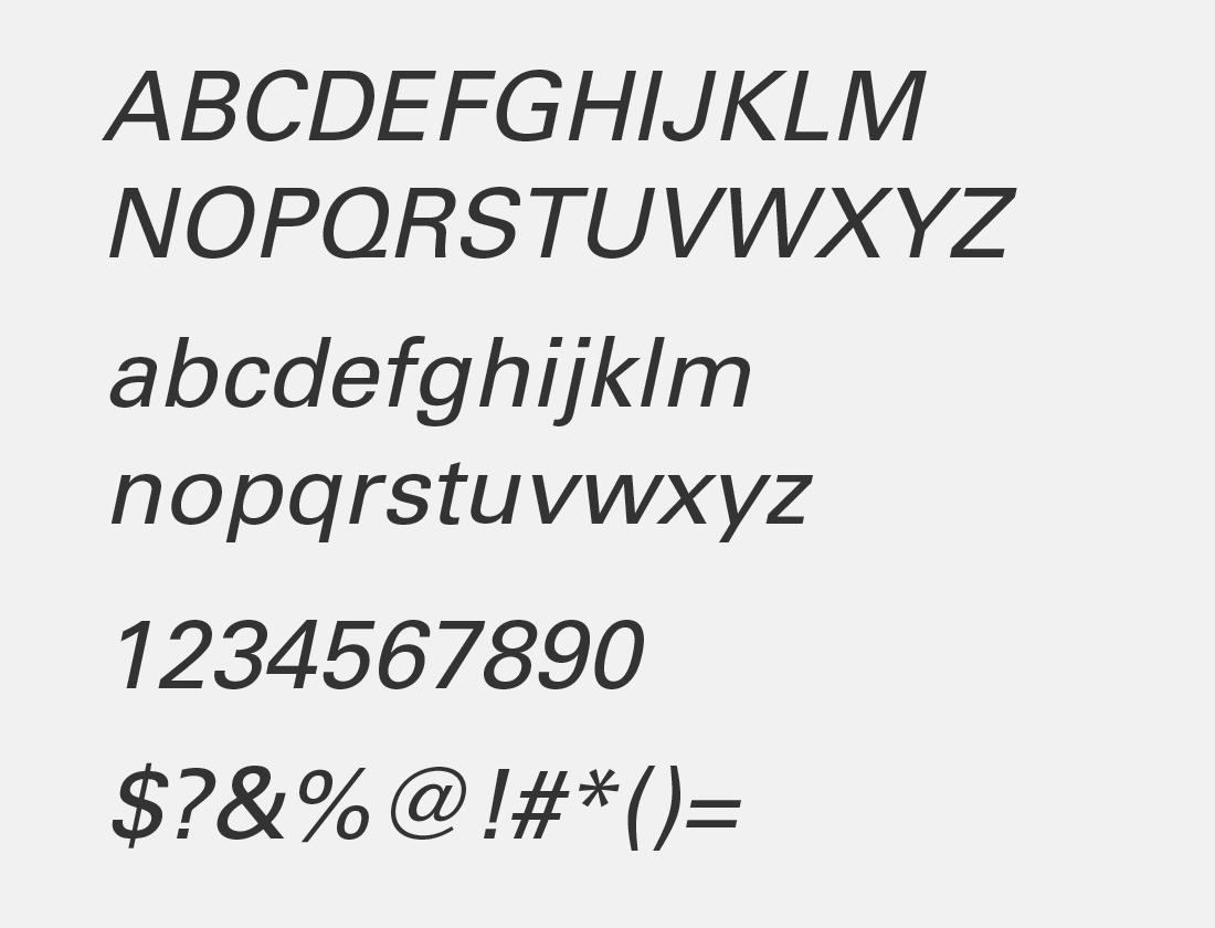 univers-italic-font-style
