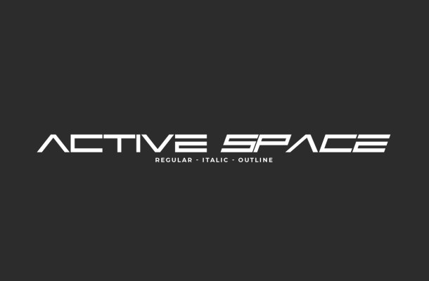 Active Space Font