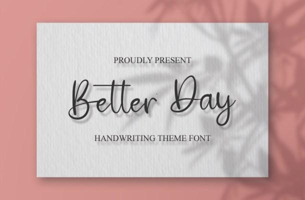 Better Day Font