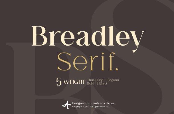Breadley-Serif-Font