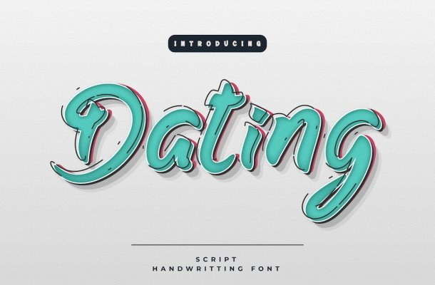 Dating-Font