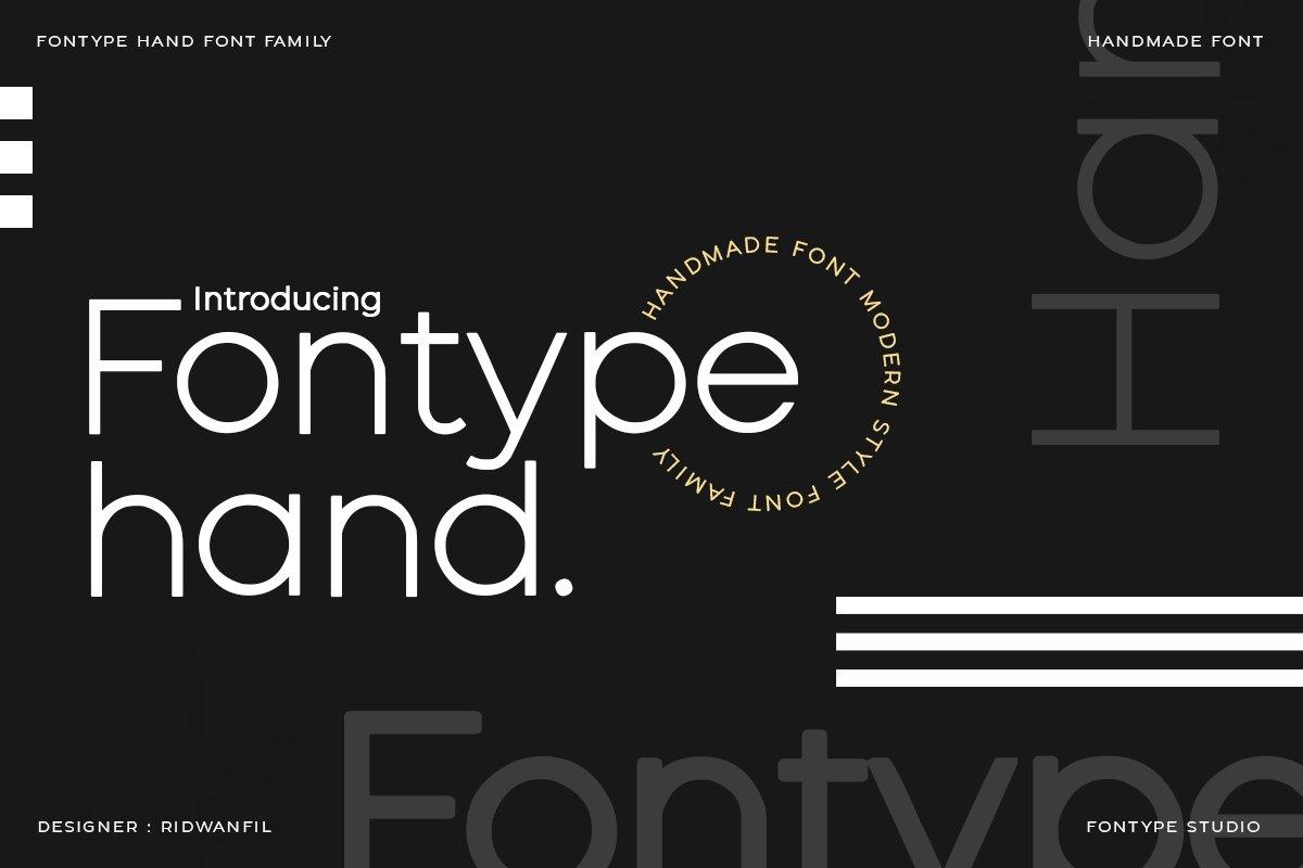 Fontype-Hand-Font
