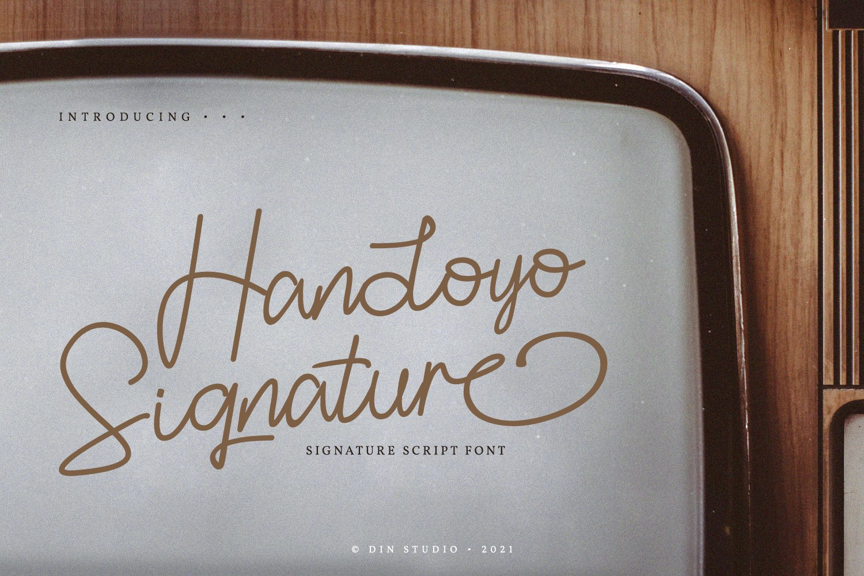 Handoyo-Signature-Font