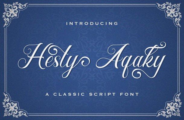 Hesty-Aqaky-Font