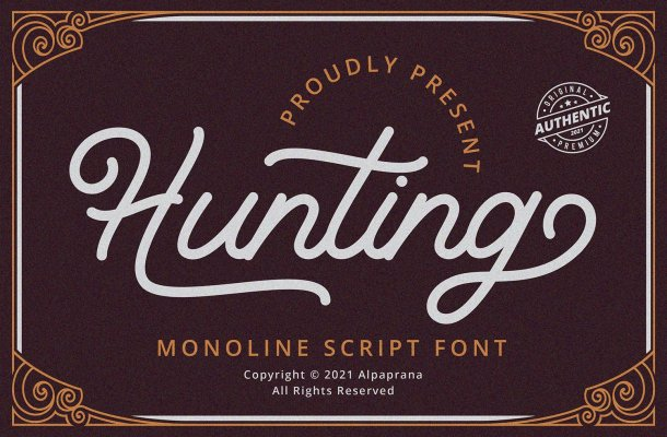 Hunting-Font
