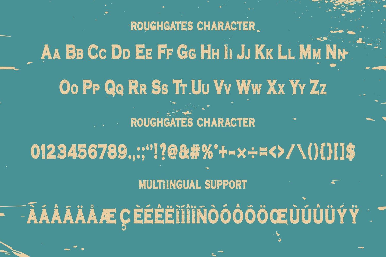 Roughgates-Font-3