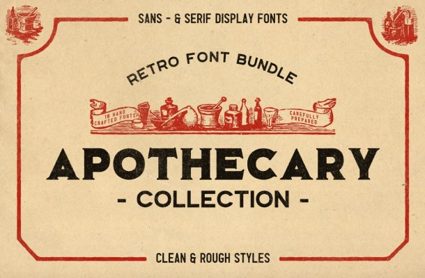 The Apothecary Collection Font