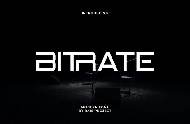 Bitrate-Font
