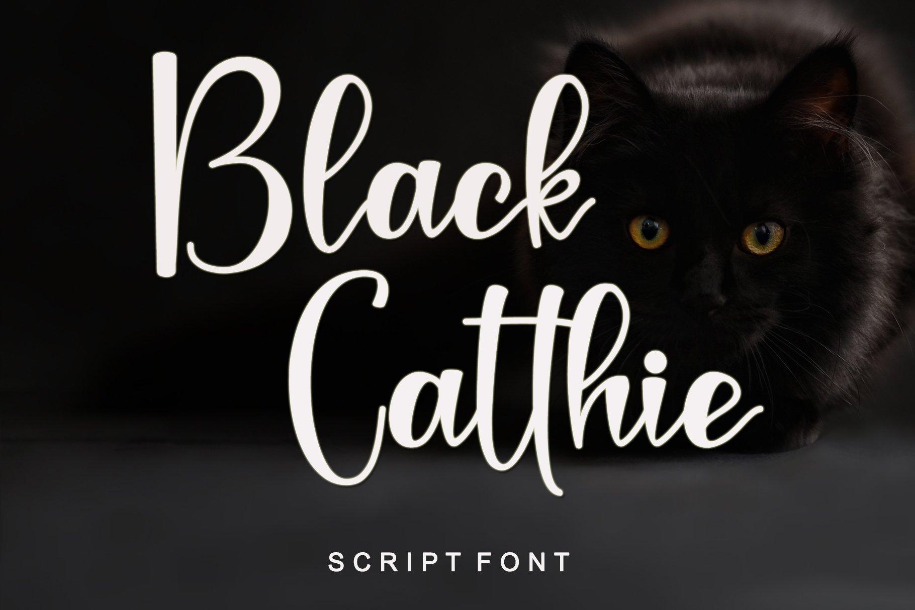Black-Catthie-Font
