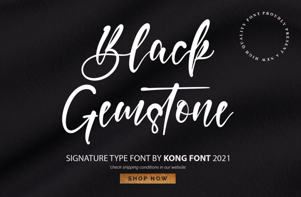 Black Gemstone Font
