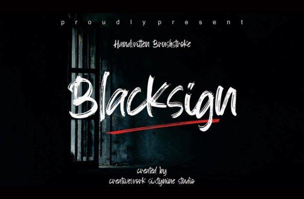 Blacksign Font