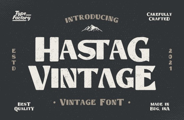 Hastag-Vintage-Font