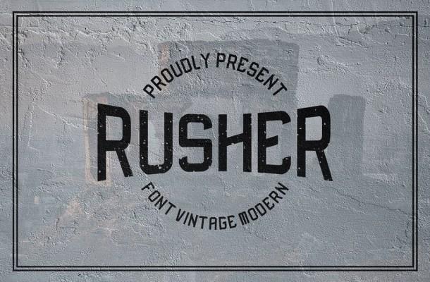 Rusher-Font