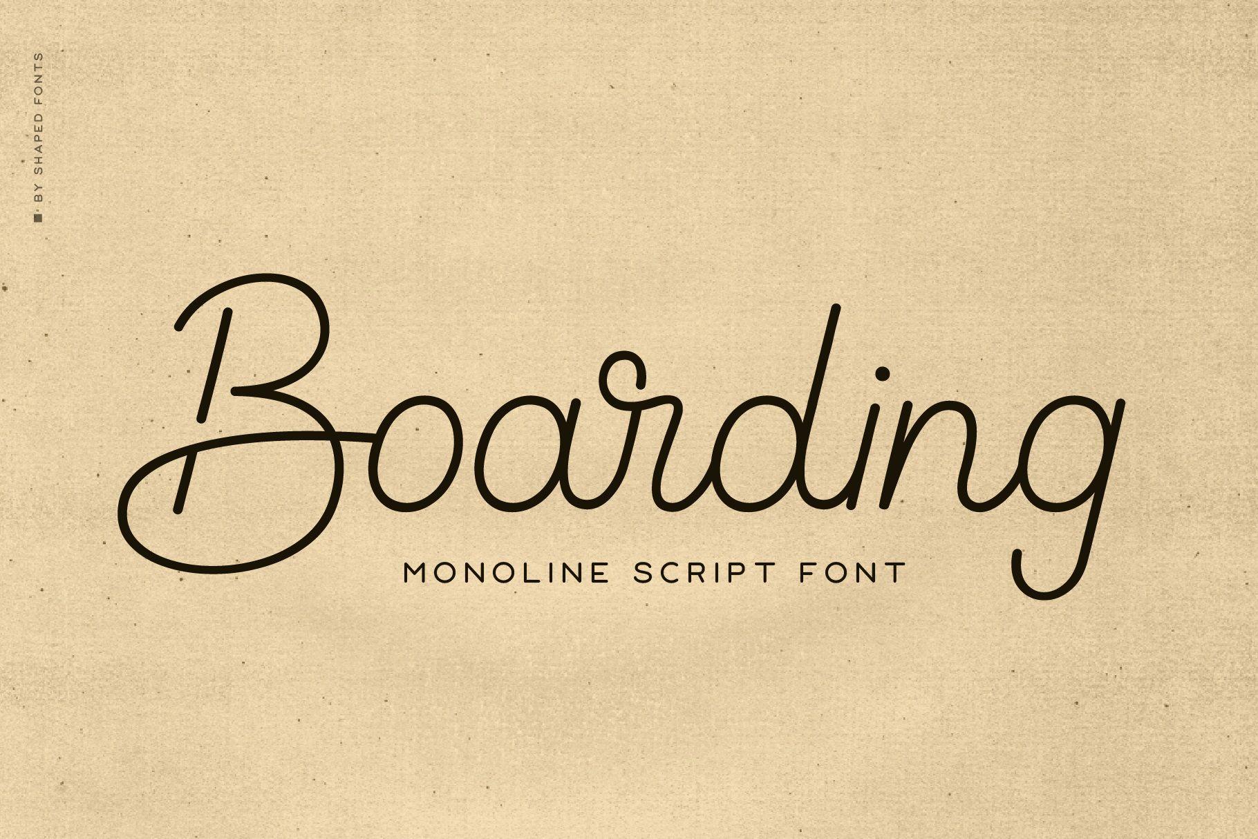 Boarding-Font