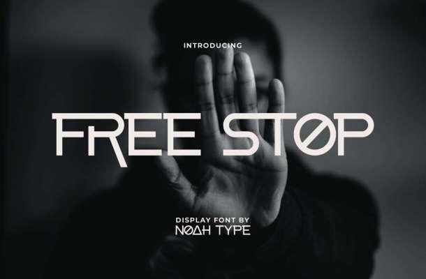 Free-Stop-Font