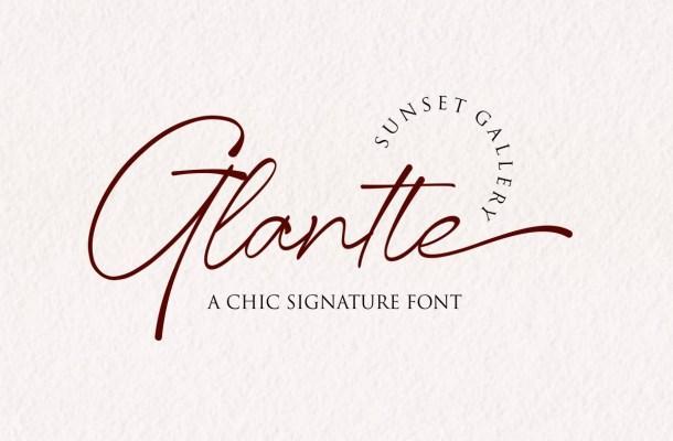 Glantte Font