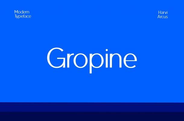 Gropine-Font