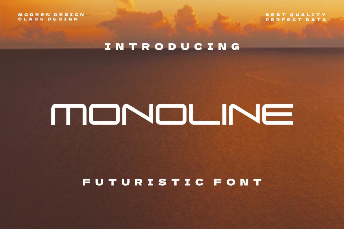 Monoline-Font