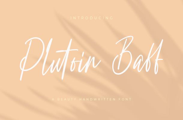 Plutoin Baff Font
