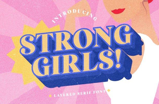 Strong Girls Font
