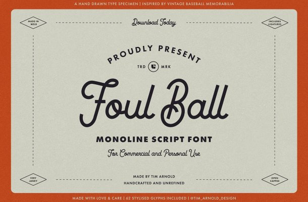 Foul Ball Font
