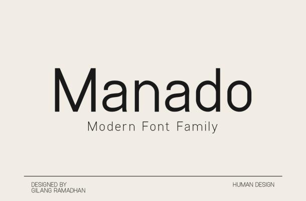 Manado Font Family
