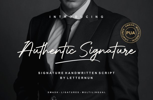 Authentic Signature Script Font
