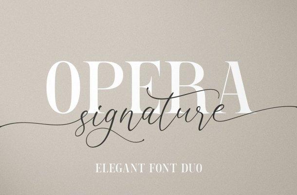 Opera Signature Font Duo