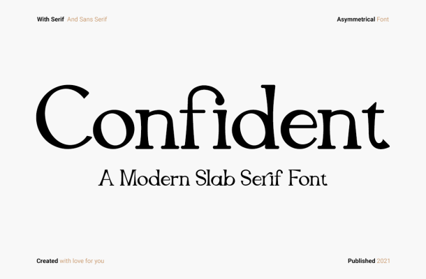 Confident Slab Serif Font