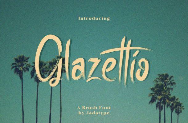 Glazettio Font