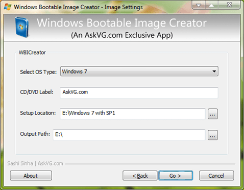 WBI Creator: Create Bootable ISO of Windows XP/Vista/7
