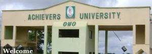 Achievers University Post UTME Past Questions