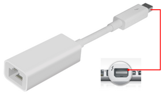 rj45 to thunderbolt wiring diagram for off road lights jeep how do i configure the apple gigabit ethernet adapter connect your computer