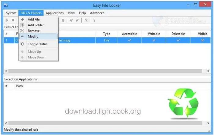 Télécharger Easy File Locker Crypter et Protéger Fichiers