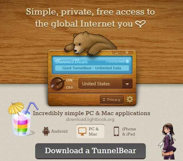 Télécharger TunnelBear VPN 2019 Pour Ouvrir Le Site Bloqué