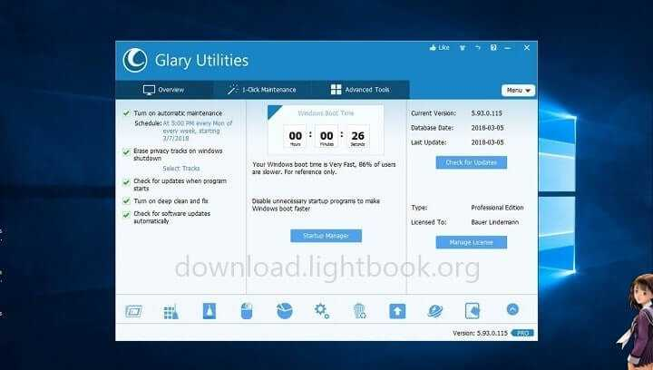 Download Glary Utilities Pro 2019 Maintain & Speed Up Your Pc