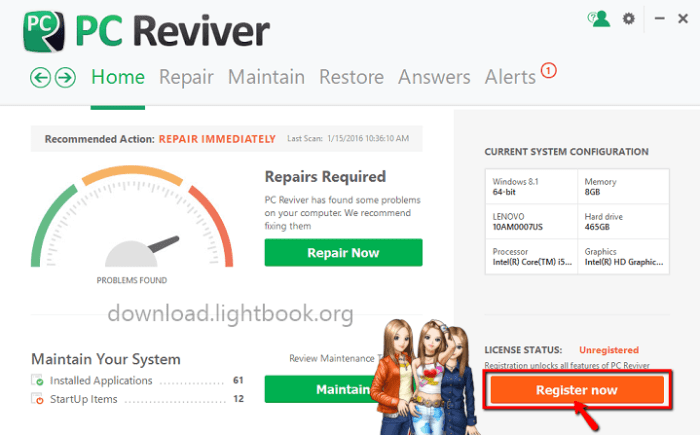 Download PC Reviver 2019 Maintenance and Repair PC Problems